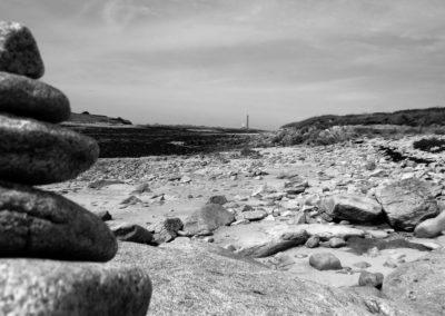 Le phare de l'île Vierge vu depuis Saint-Cava
